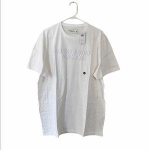 Men's Abercrombie White Embroidered Logo Tee XXL